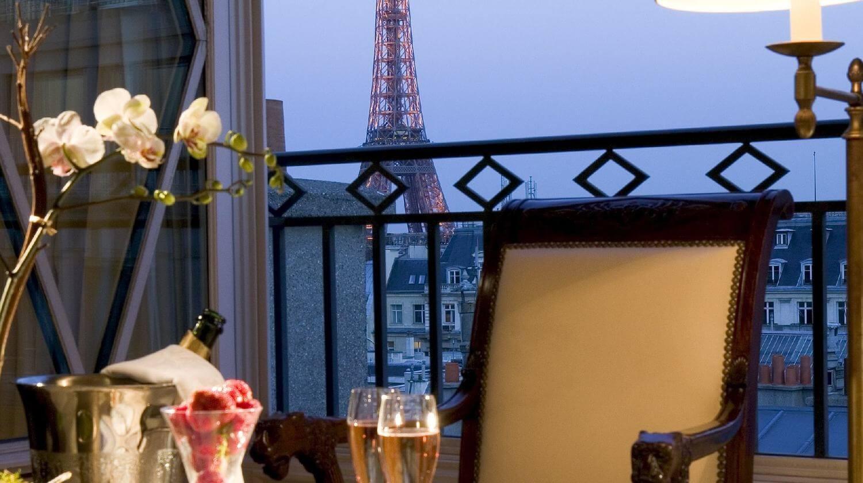 Vista de la Torre eiffel desde el Hotel Radison Blu Paris