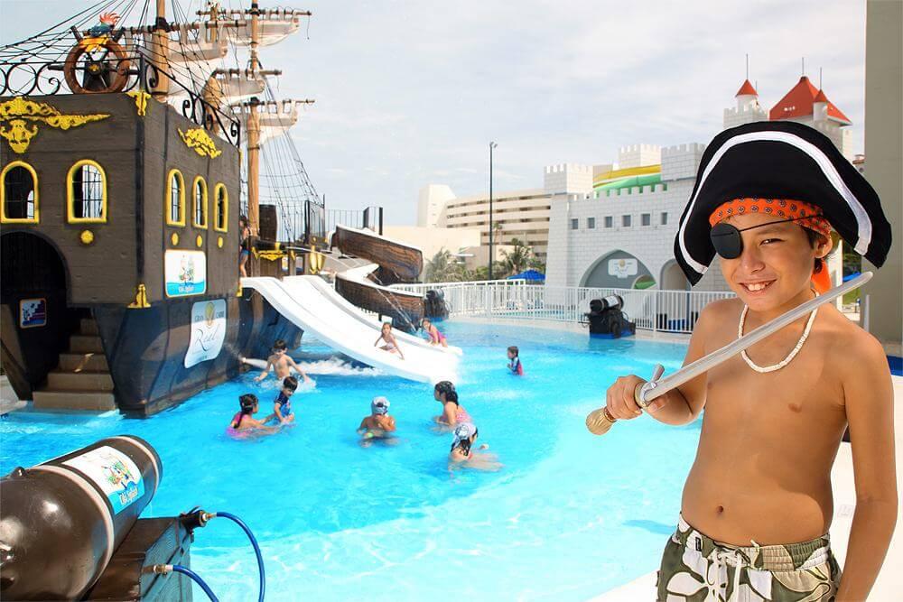 Hotel para niños con parque acuático en Cancún