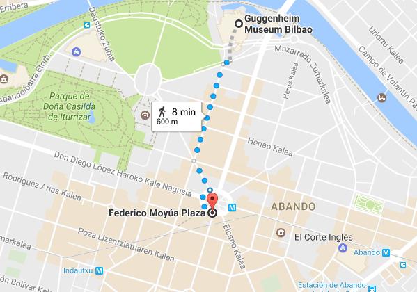 Bilbao city centre map