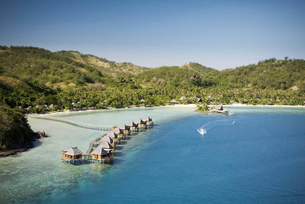 Resort sobre el mar en Fiji