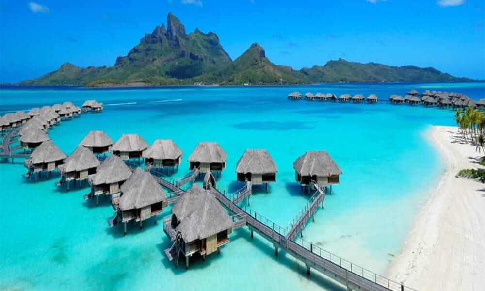 Hotel sobre el mar en Bora Bora