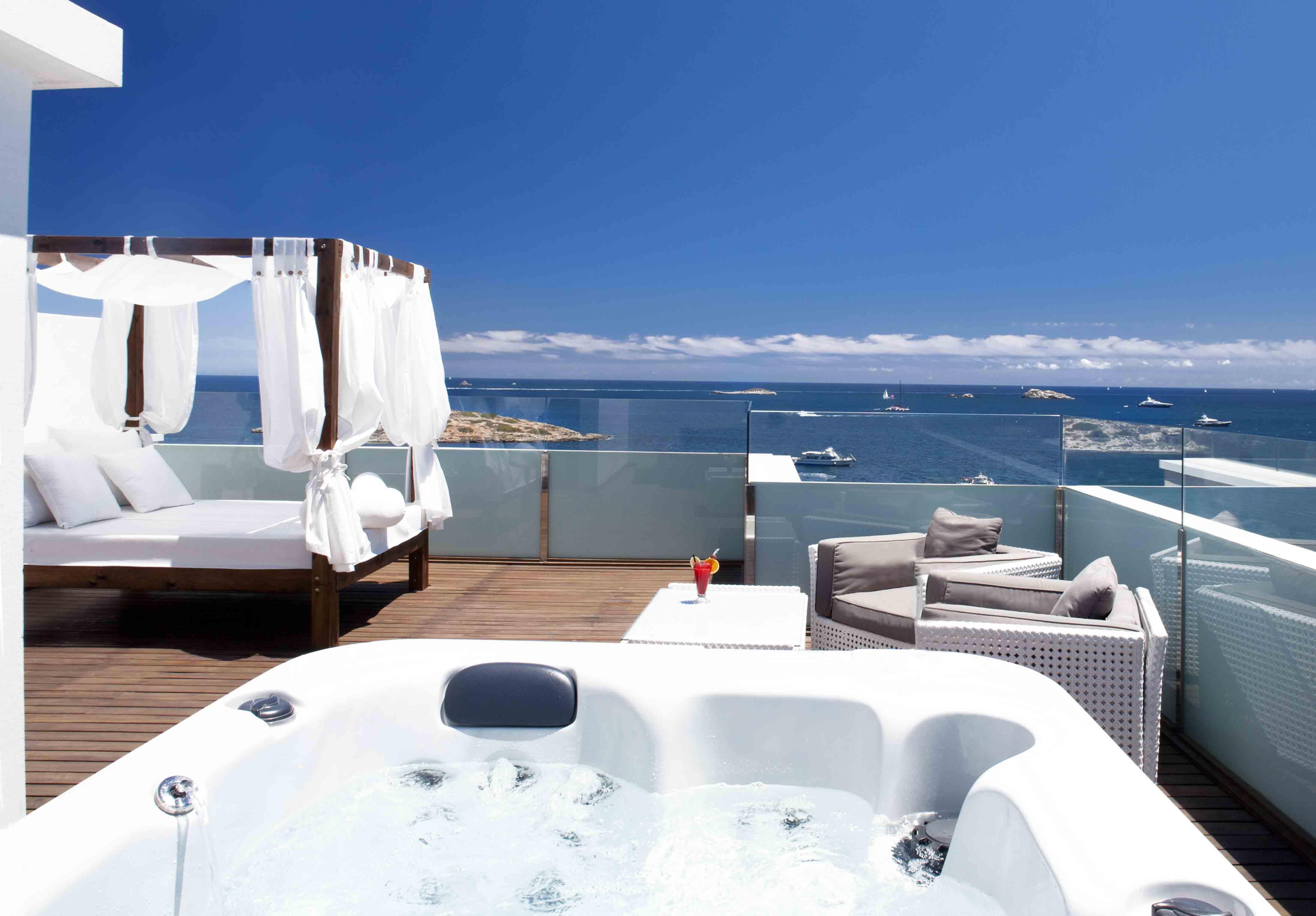 Hotel en Ibiza con jacuzzi exterior